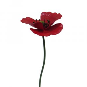 Poppy Garden Stake